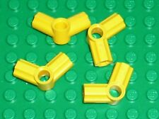 4 x LEGO TECHNIC Yellow Angle Connector 5 ref 32015 / Set 8250 8299 8265 8043...