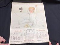 Vintage 1937 Chesapeake and Ohio Railway Railroad Calendar Chessie Cat
