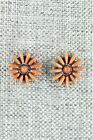 Coral & Sterling Silver Earrings - Mildred Ukestine