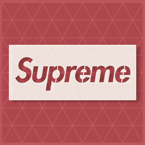 Supreme Stencil 2-13.5 inches length - For SPRAY PAINT, AIRBRUSH AND OTHER PAINT