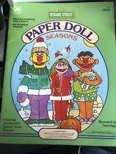 1984 Sesame Street Paper Dolls