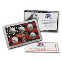 (1) 2007 United States Mint Silver Proof Quarter Set in Original Box