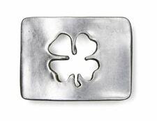 Schließe Buckle Gürtel-Schnalle Glücksklee Wechselschließe für 4 cm Gürtel
