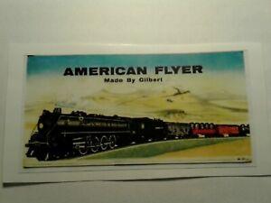 American Flyer Challenger Engine Sticker Whistling Billboard Sticker S Gauge For