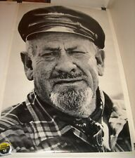 ROLLED FAMOUS FACES UNMARKED PORTRAIT PINUP POSTER OLDER MAN SEA CAPTAIN 1960's