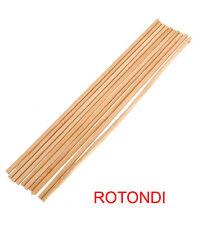 100pz STECCONE IN BAMBOO per zucchero filato Ø 4mm x 40cm Rotondi di legno NUOVI