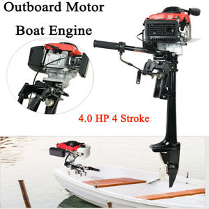 4 Stroke 4HP Outboard Motor Engine with Air Cooling System for Marine Boat Yacht