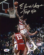 Elvin Hayes SIGNED 8x10 Photo + Top 50 Washington Bullets PSA/DNA AUTOGRAPHED