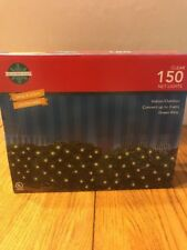 Clear 150 NET Lights 24sq.ft. Indoor/Outdoor Green Wire Ships N 24h
