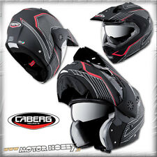 CASCO MODULARE APRIBILE CABERG TOURMAX SONIC MATT BLACK RED NERO OPACO TAGLIA XL