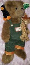 The Bearington Bear Collection retired 2007 Bo & Crow scarecrow overalls plush