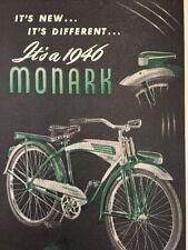 1946 Vintage MONARCH Silver King Bike Bicycle Advertisement Ad