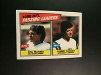 1987 Topps # 227 NFL PASSING LEADERS DAN MARINO / Tommy Kramer NM