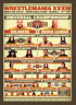 Wrestlemania 33 Roman Reigns & The Undertaker Wrestling Art Print 8x10 Inch WWF