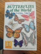 Heritage Butterflies of the World Playing cards Lepidopterology nature butterfly