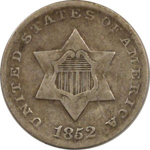 1852 THREE CENT SILVER - HIGH GRADE CIRCULATED EXAMPLE!