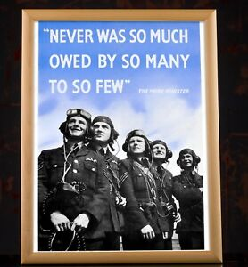 Winston Churchill Quote Poster - Second World War Print Collectibles Replica