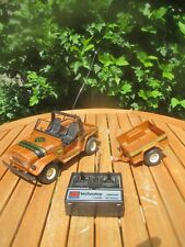 RC NIKKO TECHNOTOY Toyota (1981) Land Cruiser + Hänger OFF ROAD Jeep ~LICHT & FB
