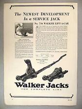 Walker Car Jacks PRINT AD - 1929 ~~ Lift-A-Car Jack
