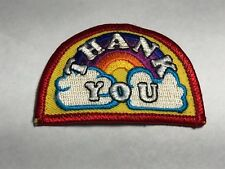 Thank You Rainbow Cloud Colorful Arc Yellow Iron Sew Embroidered Sew Patch G