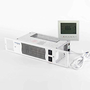 Electric Kitchen Plinth Heater with Room Thermostat & Timer (White Grill)