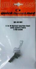 Quickboost 1/48 F/A-18 Hornet Siège Éjectable avec ceintures de sécurité # 48001