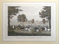 Original Stahlstich Kissingen um 1840 Mezeroth