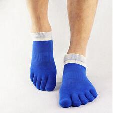 1Par Moda Hombre Calcetines 5 Dedos Pie De Algodón Deportivo Toe Socks Hot Sale!
