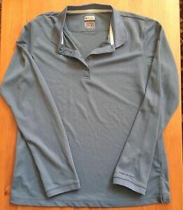 Columbia Titanium Poly Active Polo Outdoor Shirt Womens Medium 6925 Omni Shade