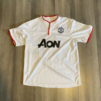 Nike Manchester United Aon White Soccer Jersey 20 Nike Dri Fit men's Large