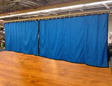 Lot of (2) Royal Blue Curtain/Stage Backdrop, Non-FR, 9 H x 15 W