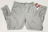 Joy Lab Women's Activewear Bottoms Gray Jogger Pocket Heather Ruched Sizes M 2XL