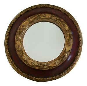 Baroque Painted & Giltwood Frame or Mirror - Hand Carved - Italy - 18th Century