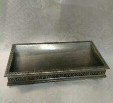 More details for vintage royal selangor pewter pen tray. v&.