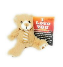 I Love You Teddy Bear - Cream Bear With Poem - Unisex Gift