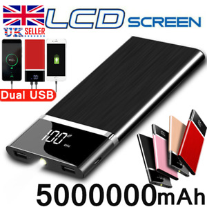 500000mAh Portable Power Bank LED 2 USB Fast Battery Pack Charger For Phone
