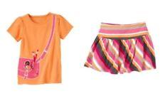 Gymboree Panda Academy Art Satchel Tee & Striped Banded Waist Skirt Outfit 5 NWT