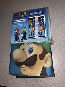 "Franco Kids Room Darkening Window Curtain Panel 42"" x 63"" Super Mario"