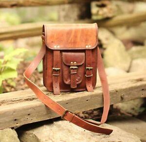 Men's Genuine Leather Vintage Laptop Messenger Handmade Crossbody Sling Bag