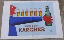 Affiche originale par HERVE MORVAN : Bière Bock KARCHER
