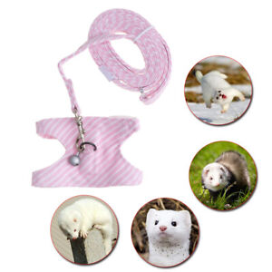 Small Pet Animal Harness Leash Chest Strap Vest Lead Rope For ig Ferret Hamster