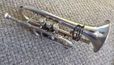 Vintage Boosey & Hawkes Imperial Cornet With Silver Plated Lyre Cardholder