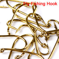 200pcs Fly Fishing Hooks 4 Sizes Fishing Trout Salmon Dry Fly Fishing Hook Tool
