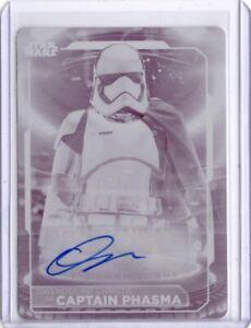 Star Wars Topps 2021 Battle Plans 1/1 Autograph Plate Card, Gwendoline Christie