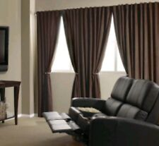 """Absolute Zero BRADLEY Home Theater Blackout Curtain Panel 50"""" x 95"""" Chocolate"""