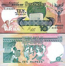 Seychelles 10 Rupees, 1989, UNC, P-33, Prefix A