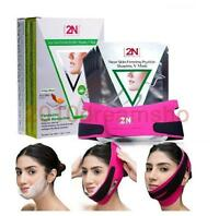 2N Face Lifting Firming Mask 7pcs with belt V-Line Facial slimming shaping Mask