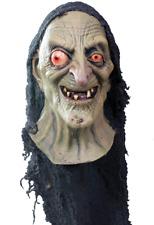 "Witch/ ""Green Sea Hag"" Mask Bug Eyed 3/4 Latex Halloween Character Mask W/ Drape"