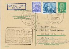 DDR 1955 PAA Wien-New York (10 Jahre UNO) Sonderflug Mitläuferpost aus der DDR