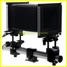 Banco ottico completo Sinar F 4x5 pollici. Standarte ant e post, vetro, piastra.
